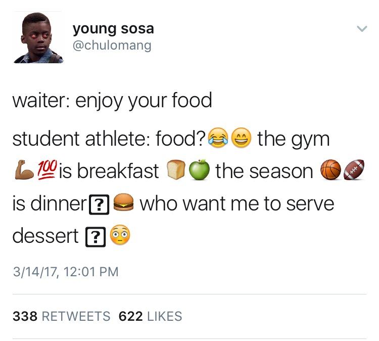 amusing student athlete meme