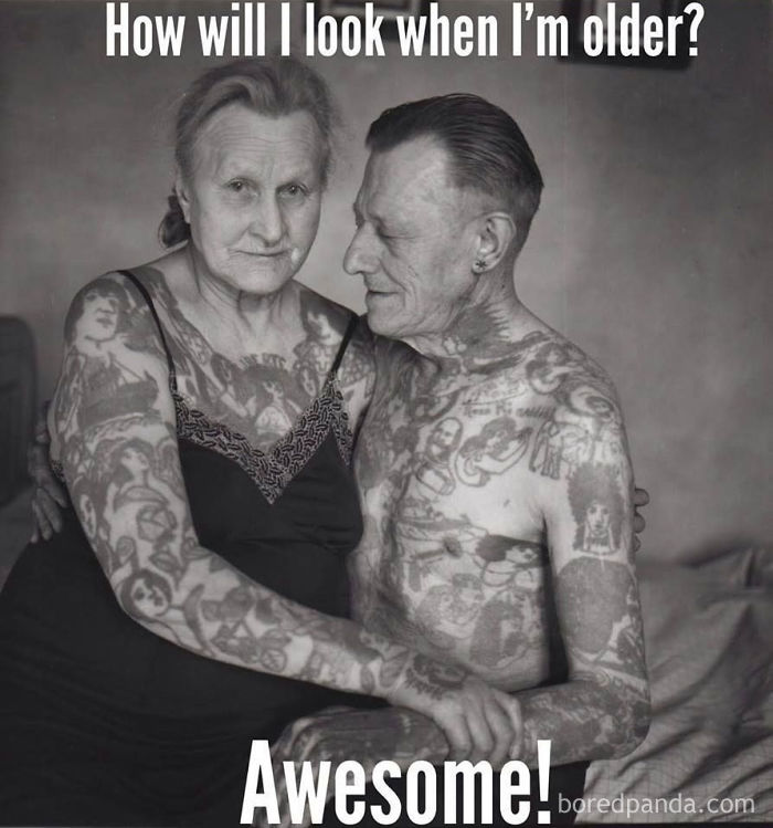 amusing tattoo meme