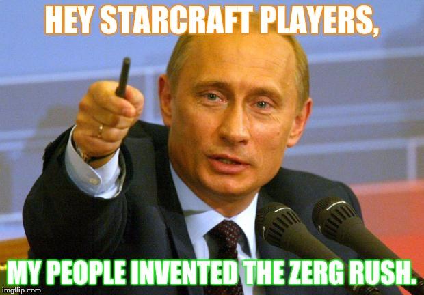 amusing zerg rush meme