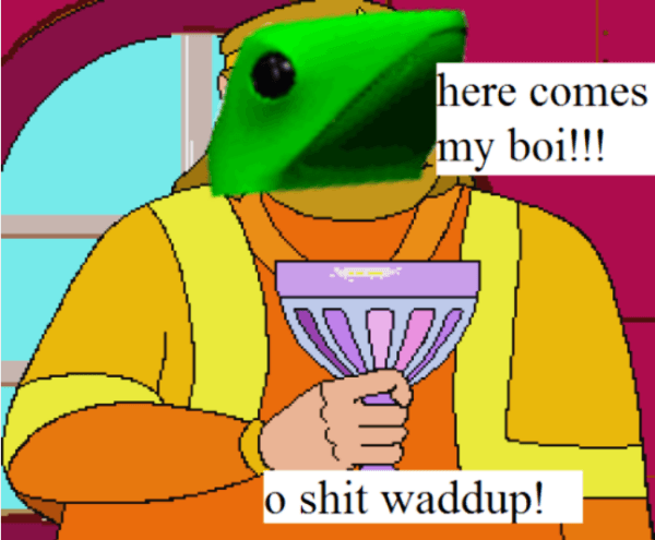 cheerful Dat Boi memes