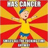 cheerful caillou memes