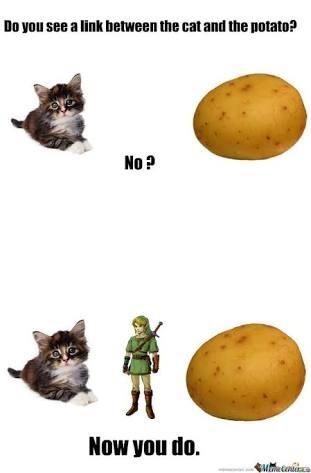 cheerful potato meme
