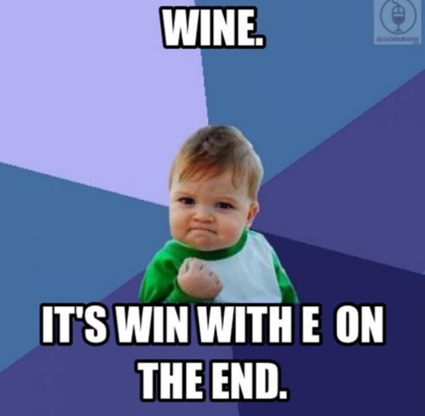 cheerful wine meme