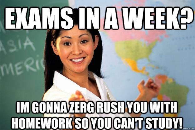 cheerful zerg rush meme