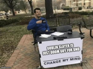 chucklesome goblin slayer meme