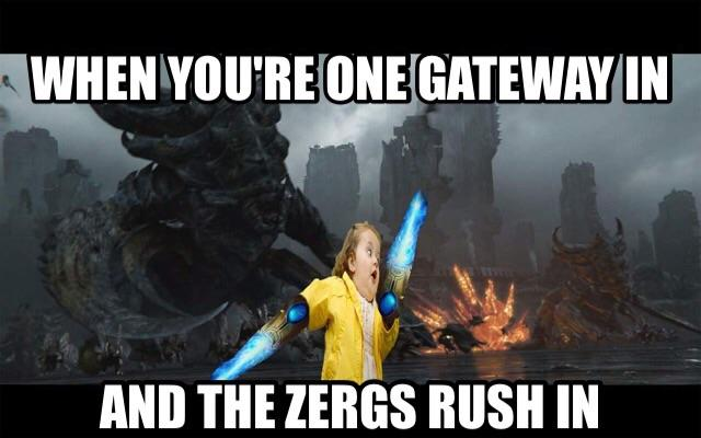 comic zerg rush meme