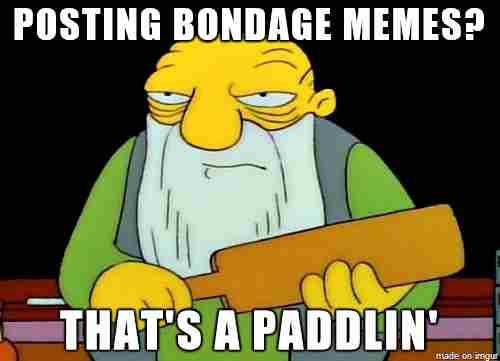 comical bondage meme