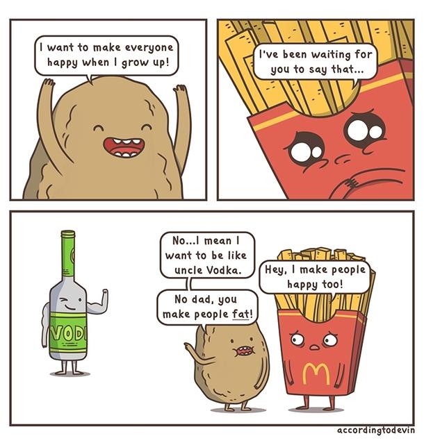 comical potato meme