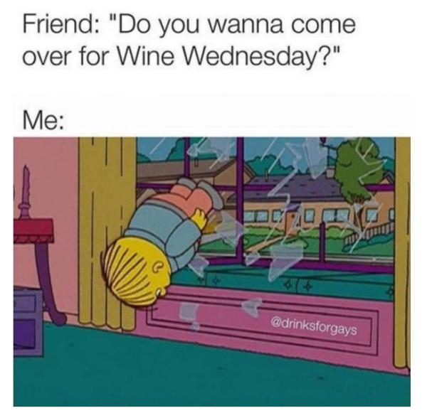 comical wine meme