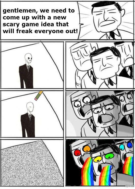 droll slenderman memes