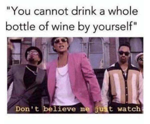 droll wine meme