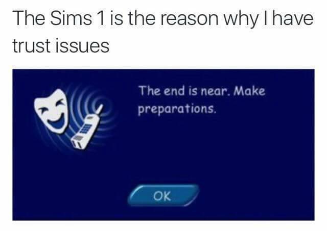 entertaining sims memes