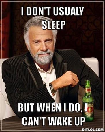 funny sleep meme