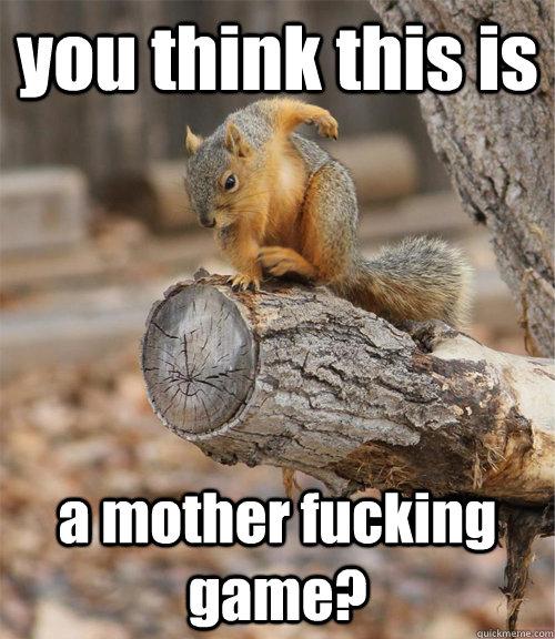 high-spirited squirrel meme