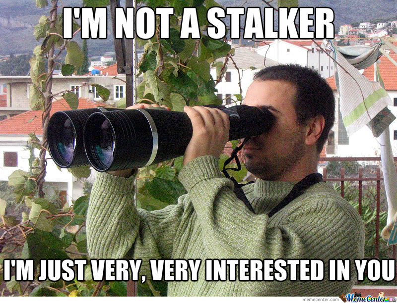 high spirited stalker meme