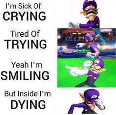 high spirited waluigi memes