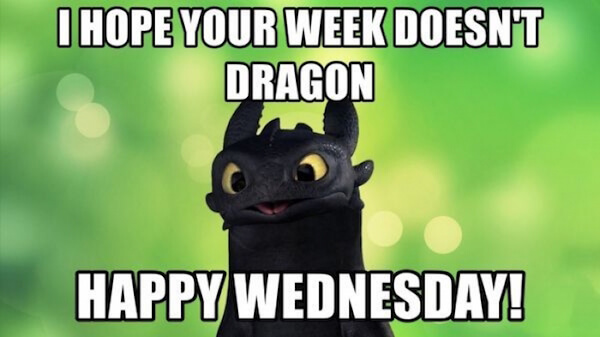 high-spirited wednesday meme