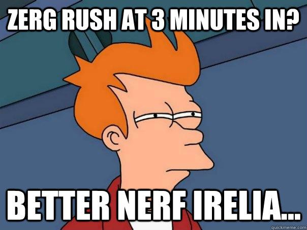 high-spirited zerg rush meme