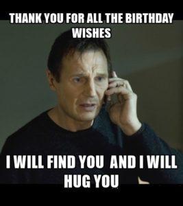 Funny Birthday Thank You Meme