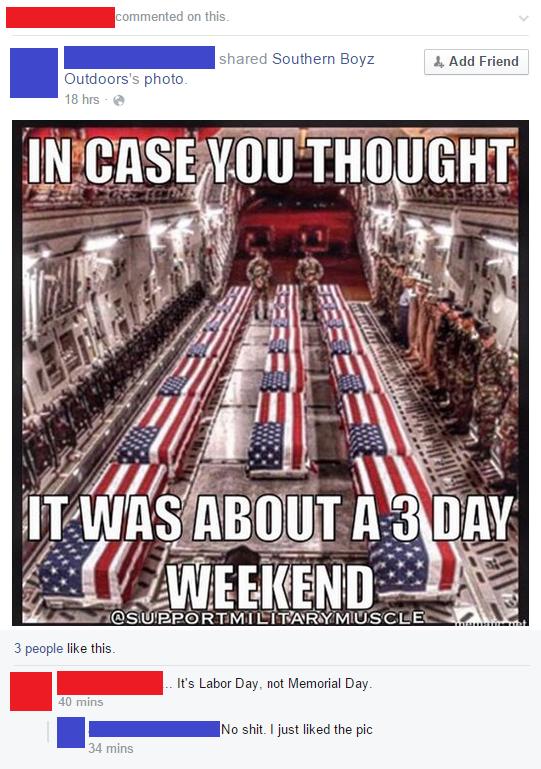 laughable memorial day meme
