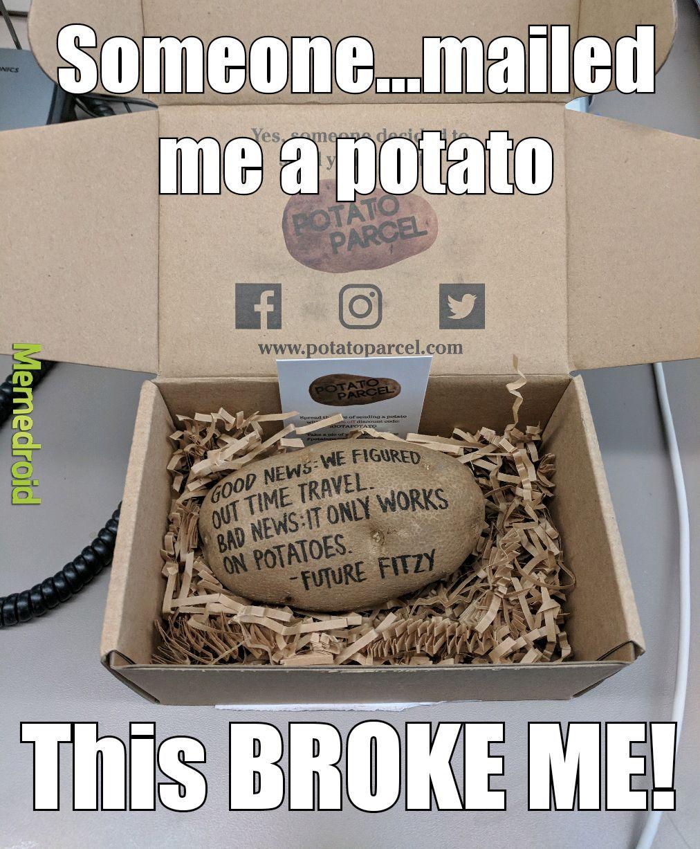 laughable potato meme