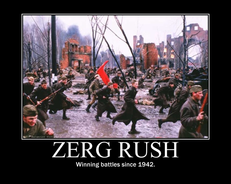 laughable zerg rush meme