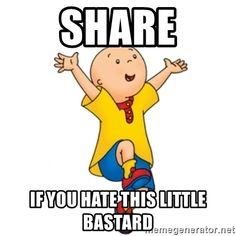 lively caillou memes