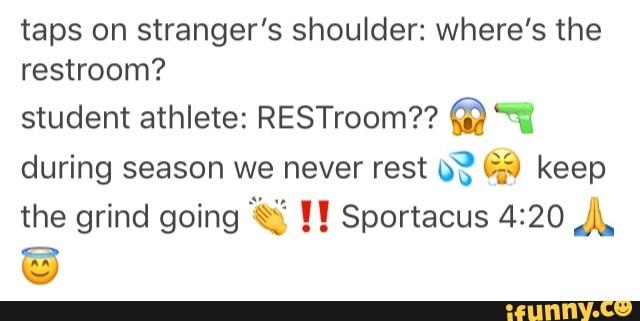 rib-tickling student athlete meme