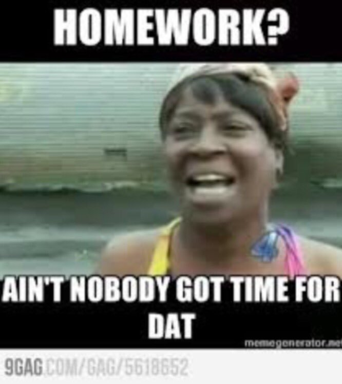 sparkling homework meme