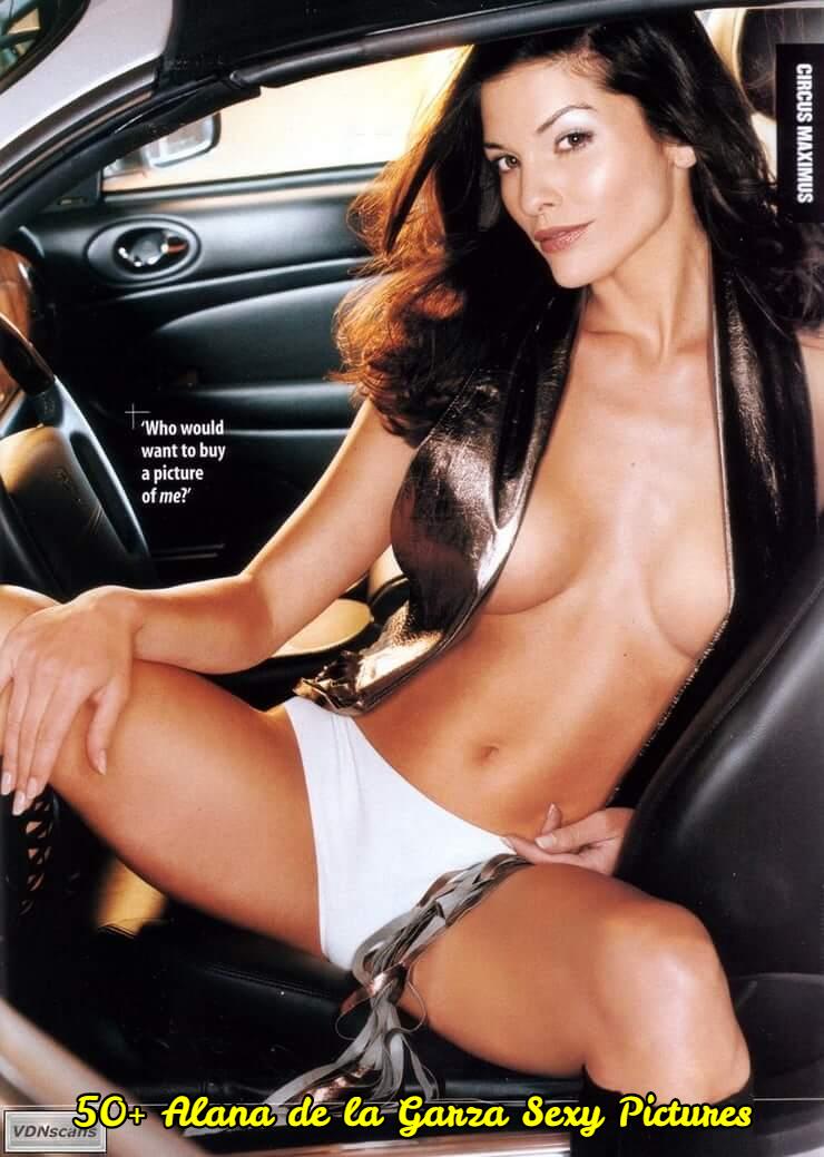 Alana de la Garza sexy cleavage