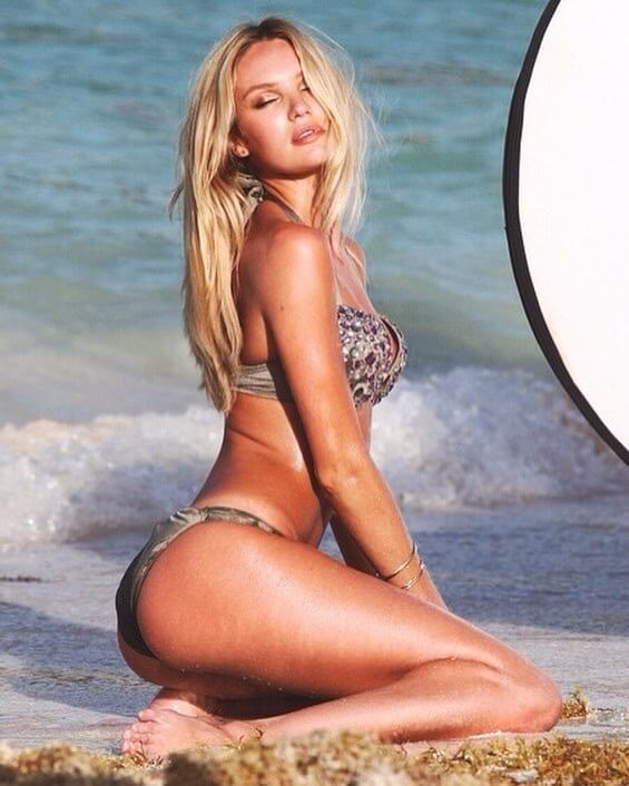 Candice Swanepoel sexy side pics