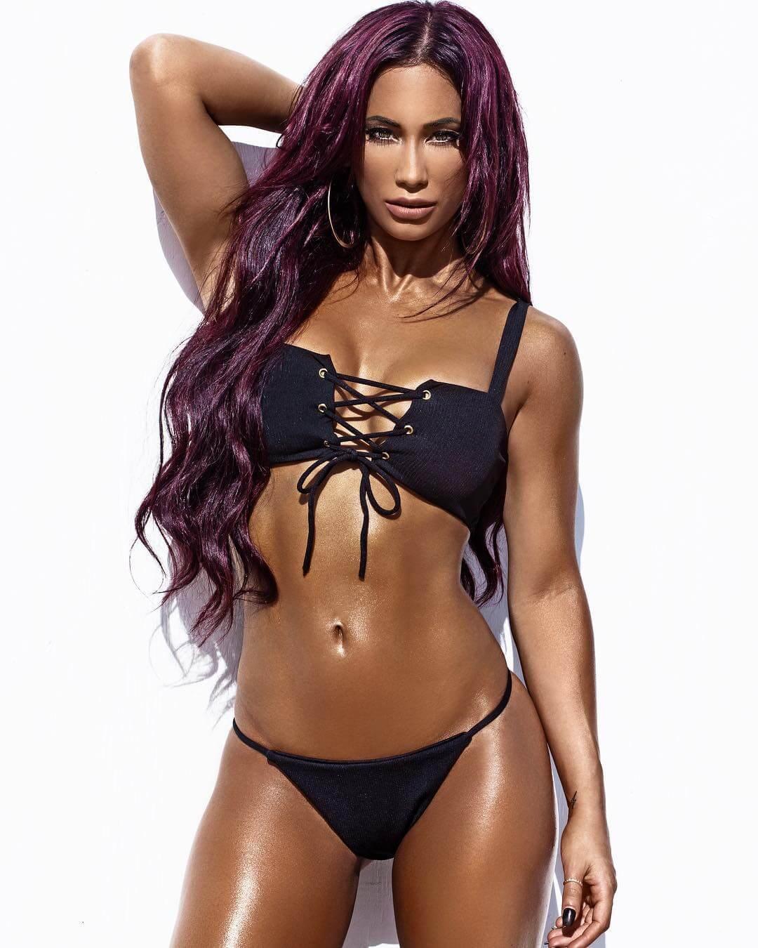 Carmella sexy cleavage pics