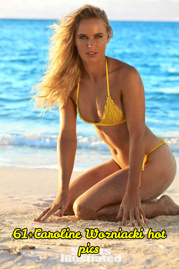 Caroline Wozniacki yellow bikini