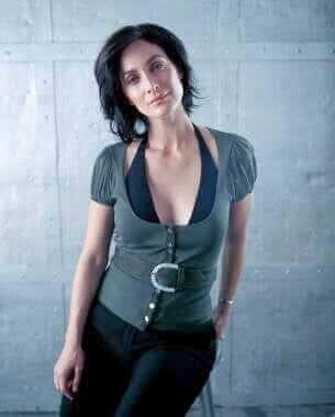 Carrie-Anne Moss hot look