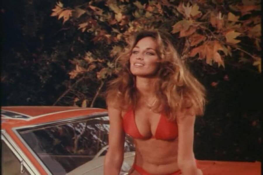 Catherine Bach hot cleavage