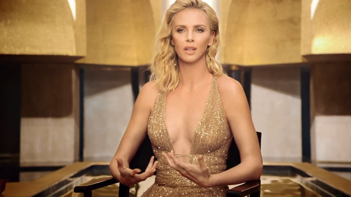 Charlize Theron sexy busty pics