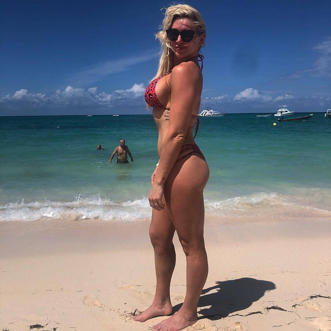 Charlotte Flair sexy bikini pics