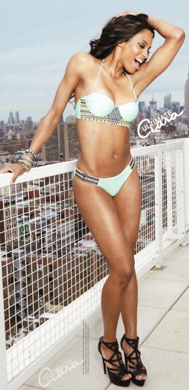 Ciara sexy white bikini
