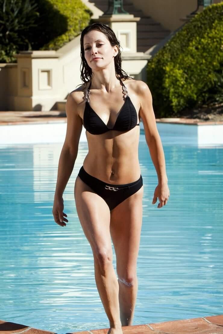Emmanuelle Vaugier black bikini