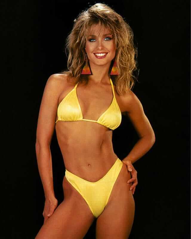 Heather Thomas sexy yellow bikini