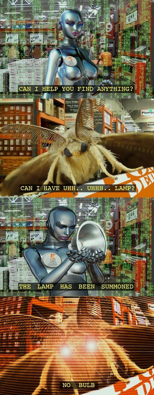 Hilarious Moth Lamp memes
