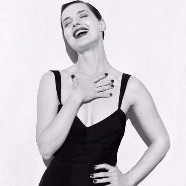Isabella Rossellini black dress
