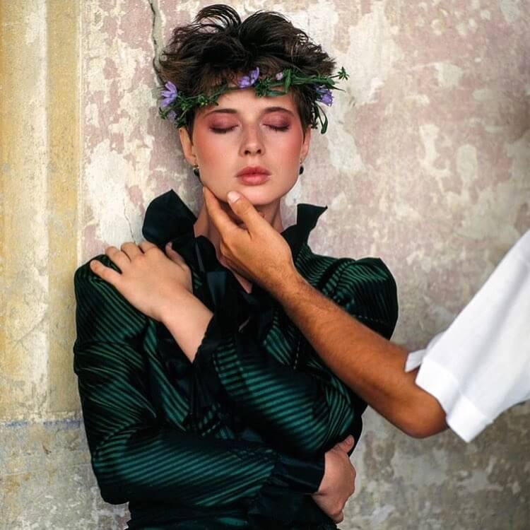 Isabella Rossellini green dress