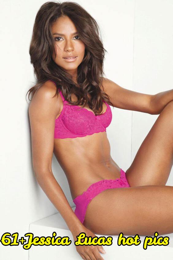 Jessica Lucas pink bikini