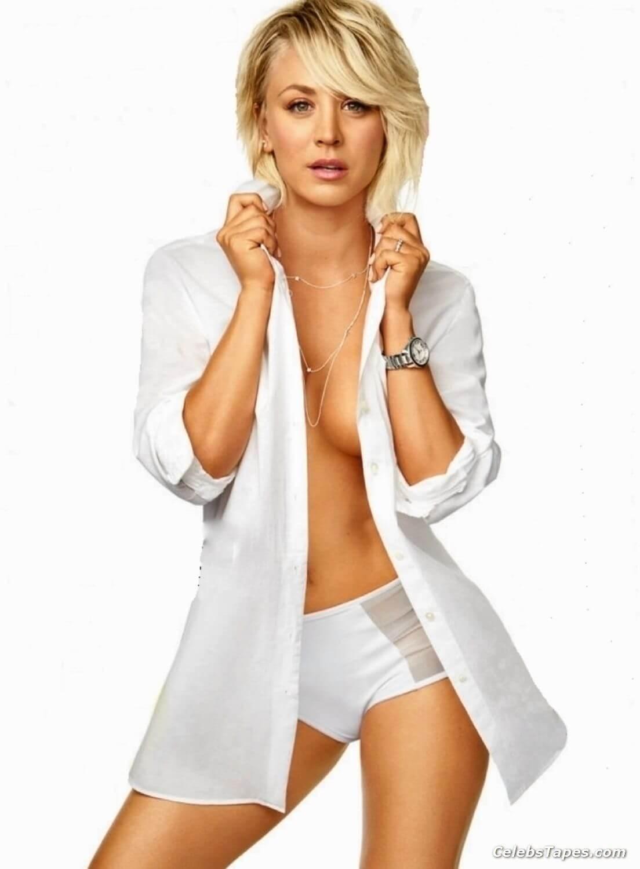 Kaley Cuoco hot cleavage pics