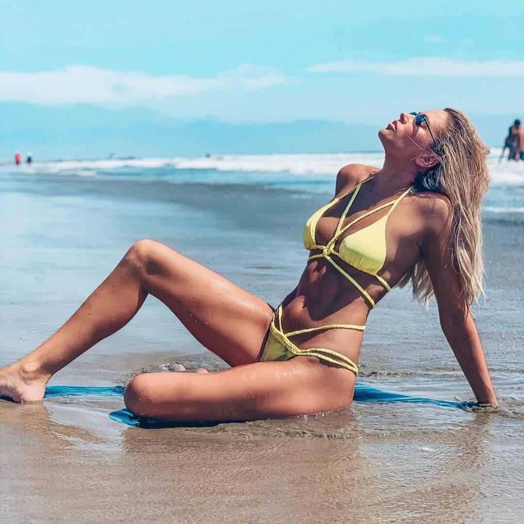 Kelly Kelly yellow bikini