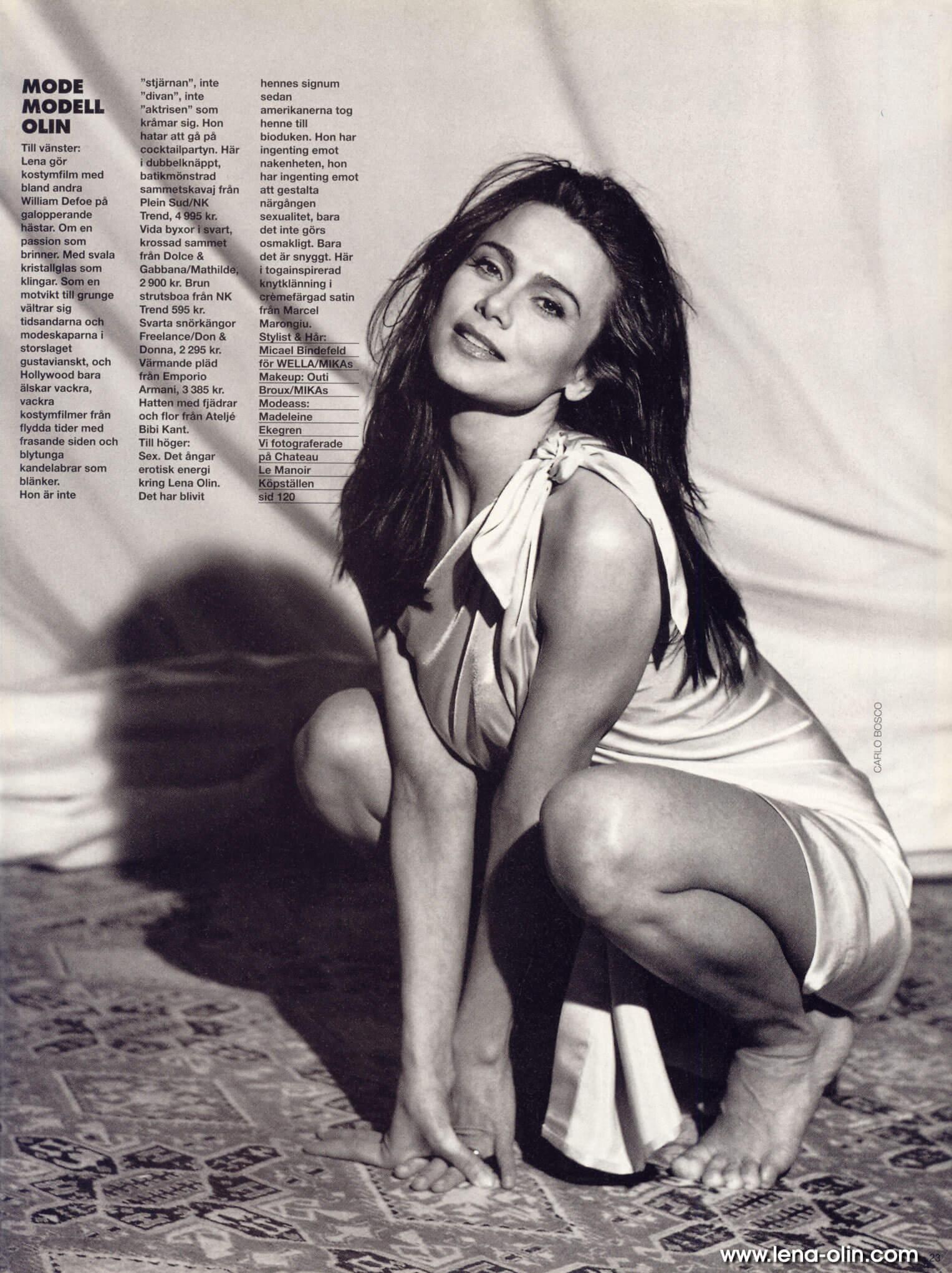 Lena Olin feet sexy