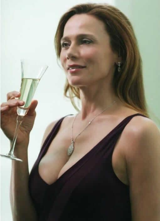 Lena Olin side boobs