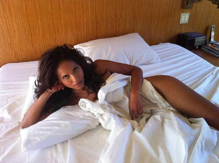 Lesley-Ann Brandt near nude