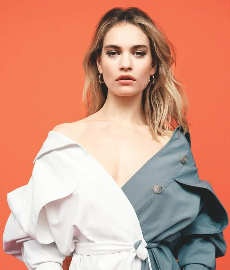 Lily James hot picture